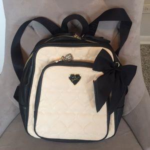 Betsey Johnson XOX Puffed Heart with Bow Backpack